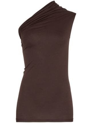 Rick Owens One Shoulder Cotton Vest Top - Farfetch