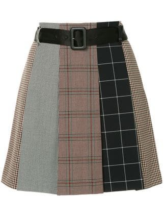 Guild Prime Checked Asymmetric Skirt - Farfetch