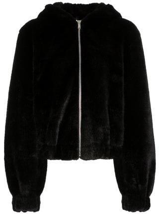 Helmut Lang Teddy Hood Faux Fur Jacket - Farfetch