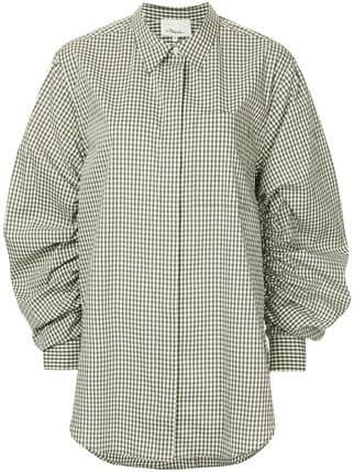 3.1 Phillip Lim Gathered-sleeve Gingham Shirt - Farfetch