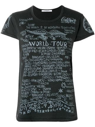 Givenchy World Tour Printed T-shirt - Farfetch