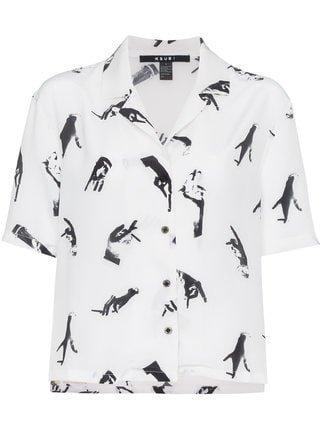 Ksubi Hand Print Silk Shirt - Farfetch