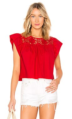 Cropped Baby Doll Blouse                                             Endless Rose