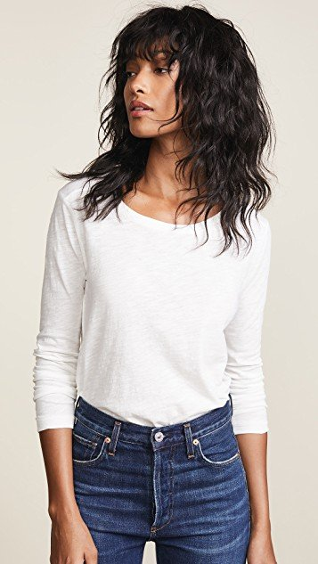 Whisper Cotton Long Sleeve Tee