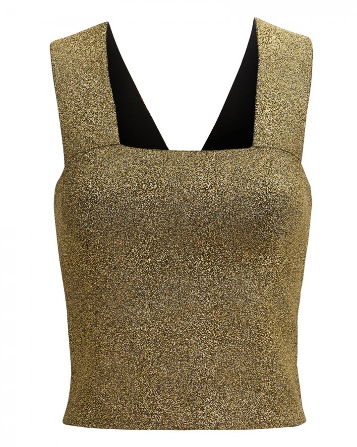 Lia Gold Metallic Top