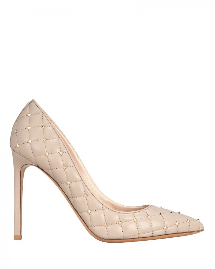 Quilted Rockstud Pumps