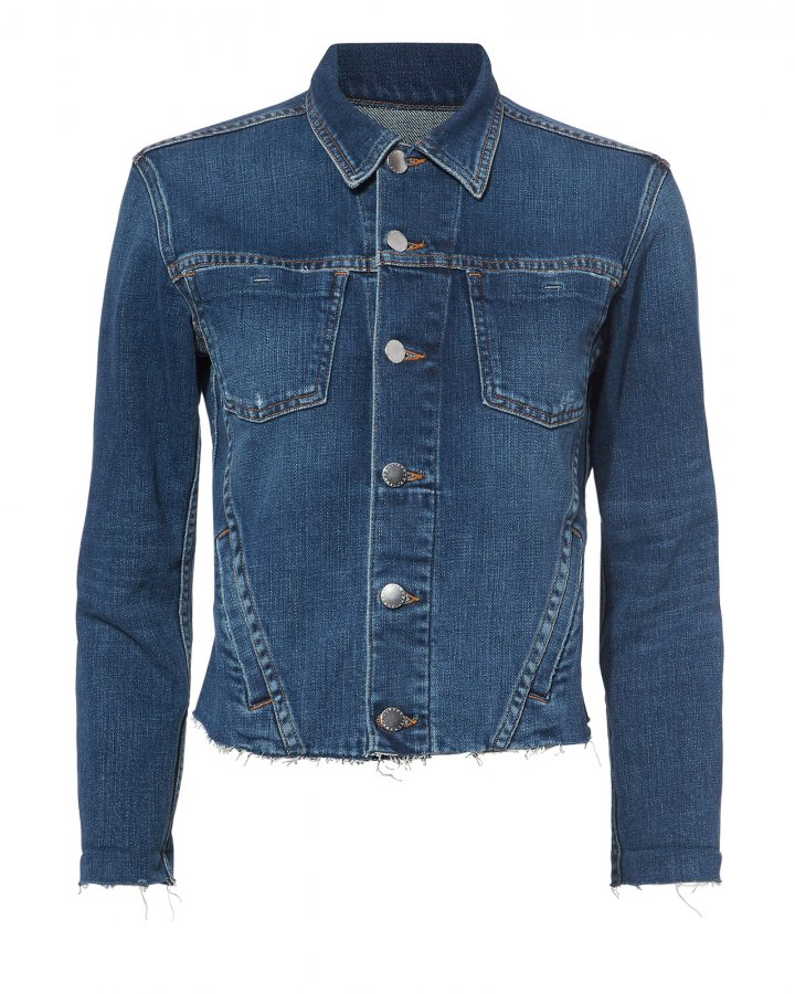 Janelle Cropped Denim Jacket