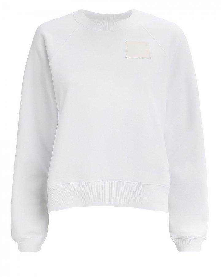 Shrunken White Sweatshirt