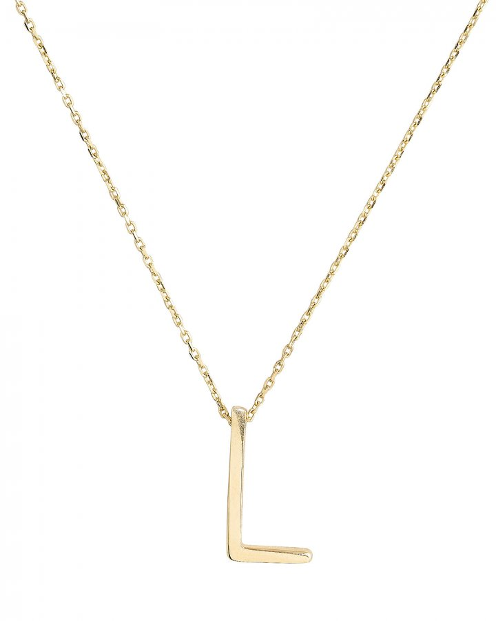 L Alphabet Necklace