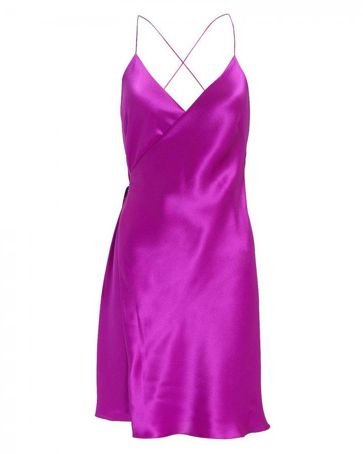 Orchid Mini Wrap Dress