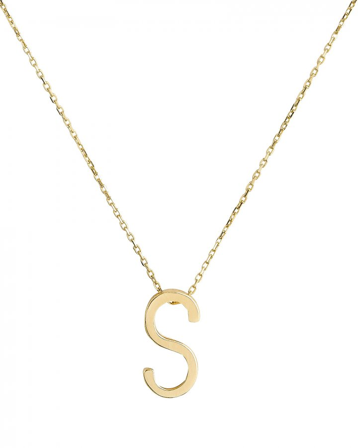 S Alphabet Necklace
