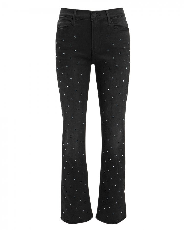 Le High Straight Embellished Jeans
