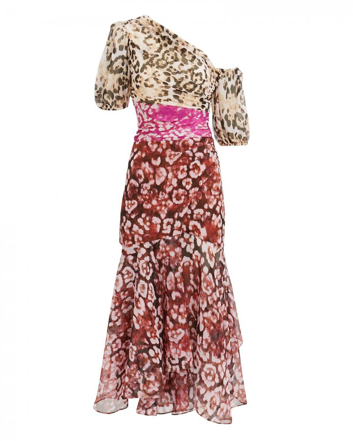 Jaylah Mixed Animal Print Dress