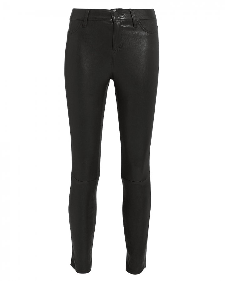 Adelaide Black Leather Pants