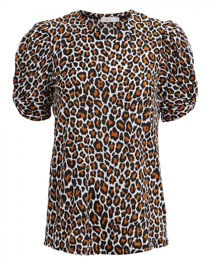 Kati Leopard Puff Sleeve T-Shirt