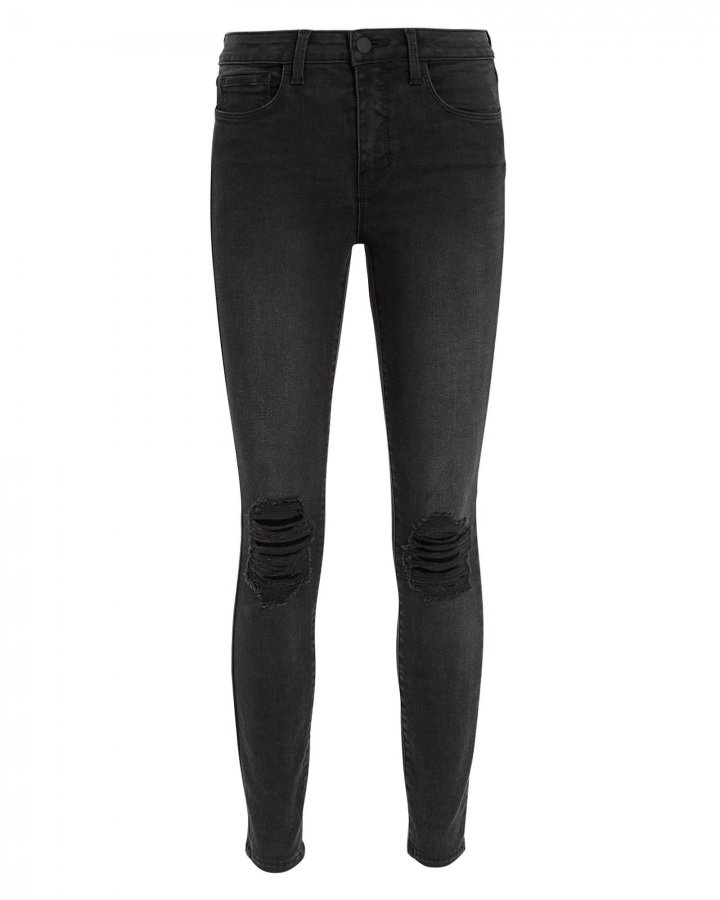 Margot Graphite High-Rise Ankle Skinny Jeans
