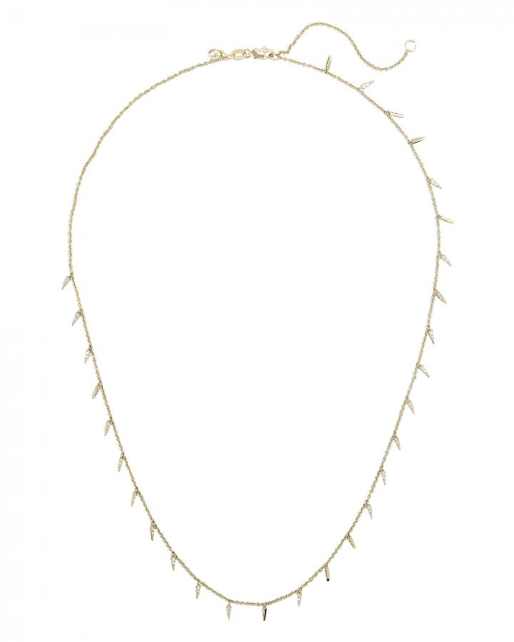 Pavé Fringe Drop Necklace