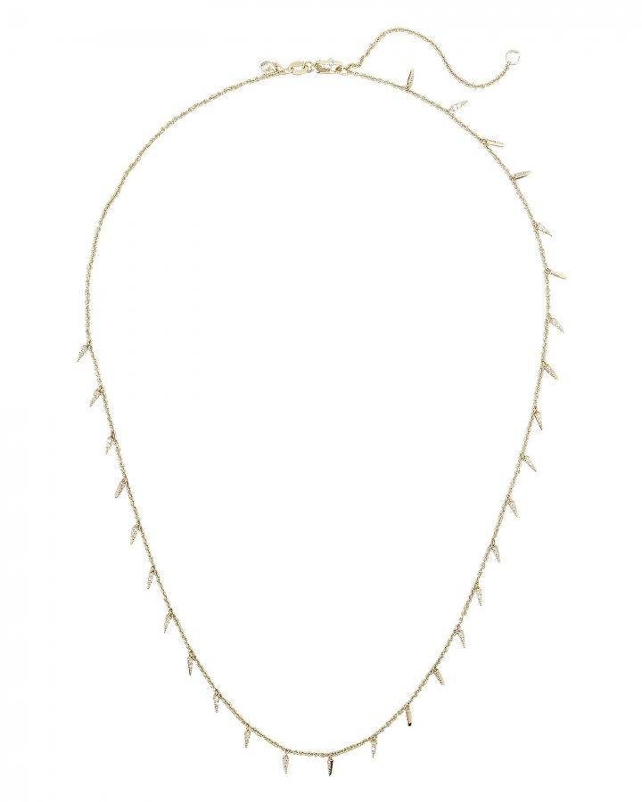 Pavé Fringe Drop Necklace