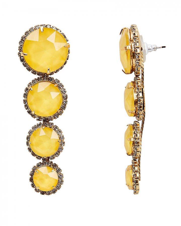 Yellow Graduated Drop Earrings