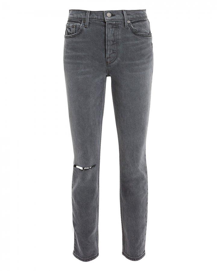 Karolina Black Ripped Cropped Skinny Jeans