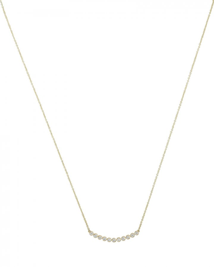 Eleven Stone Bezel Necklace