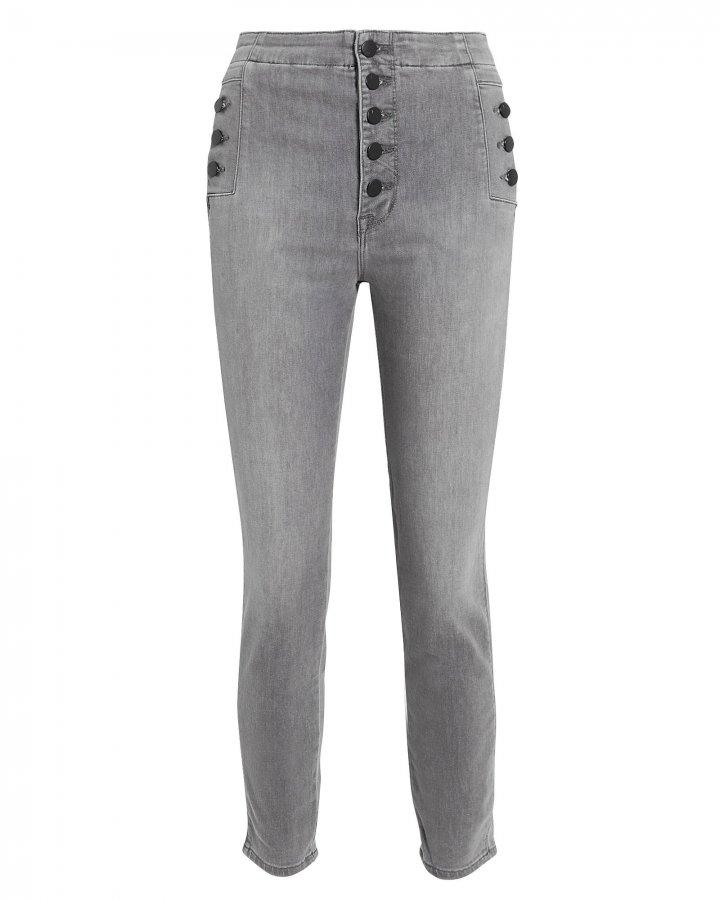 Natasha Grey Cropped Skinny Jeans