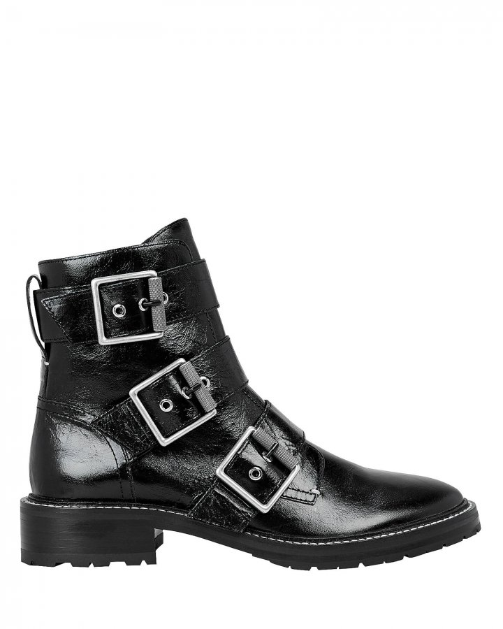 Cannon Black Buckle Boots