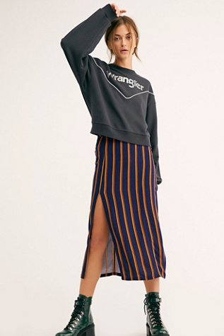 Sydney Printed Slit Midi Skirt