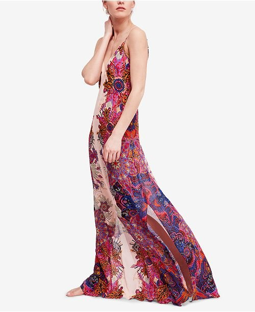 Wildflower Printed Maxi Slip Dress