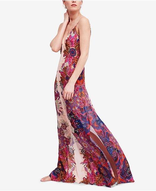Wildflower Printed Maxi Slip Dress