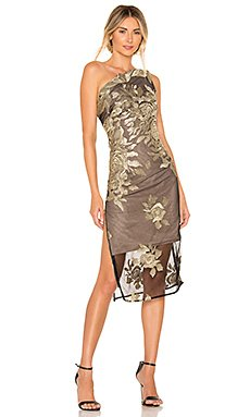 Golden Rose Midi Dress                                             Bronx and Banco