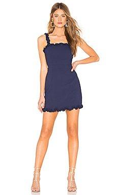 Arabella Ruffle Mini Dress                                             About Us