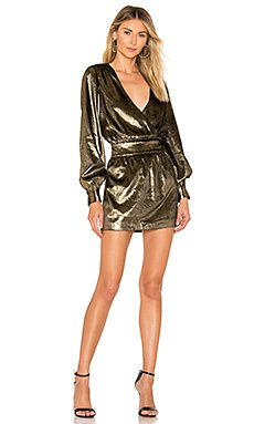 Metallic Velvet Dress                                             FRAME