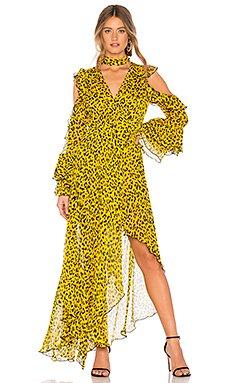 Ruffle High Low Maxi Dress                                             Diane von Furstenberg
