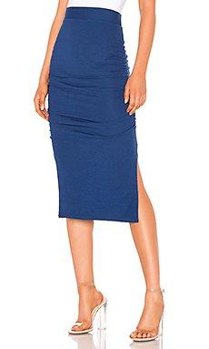 Gathered Midi Skirt                                             LA Made