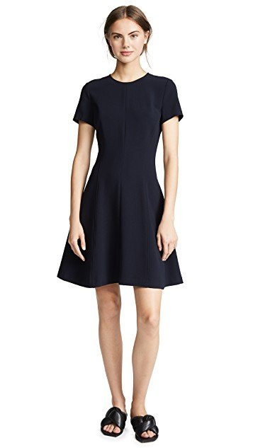 Modern Seamed Shirt Dress