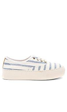Platform Stripe Sneaker                                             Soludos