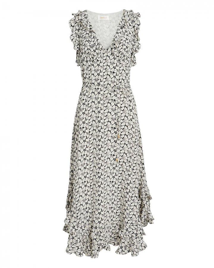 Ruffle Floral Midi Dress