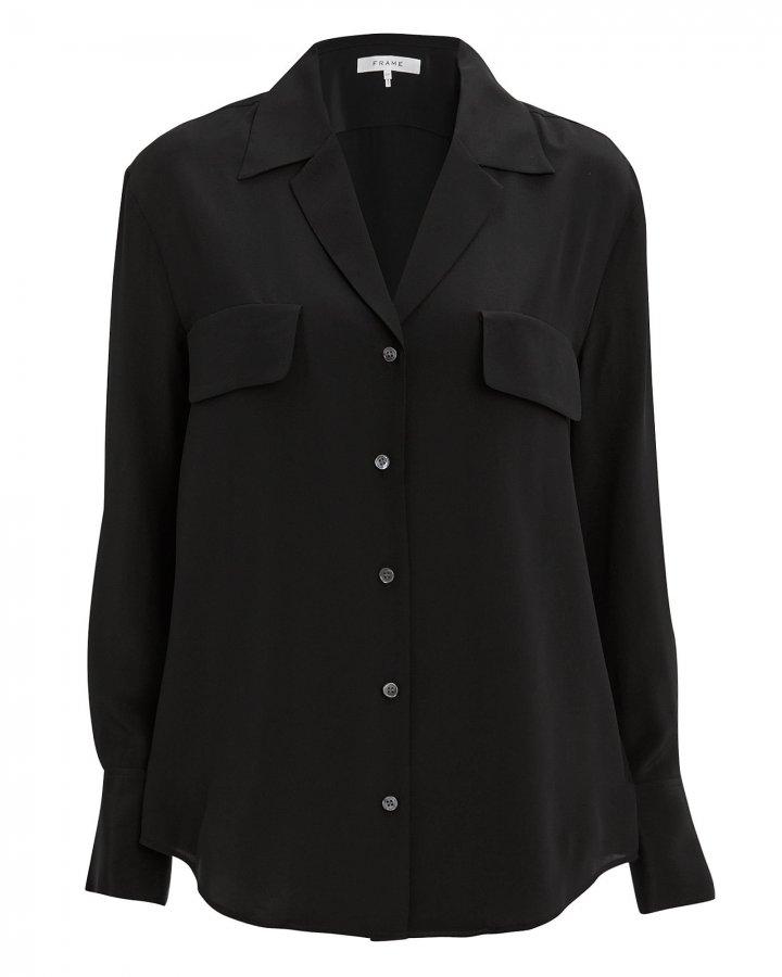 Noir Silk Blouse