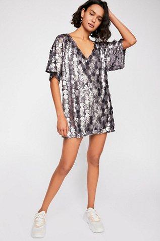 Sequin T-Shirt Mini Dress
