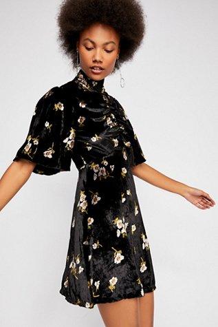 Be My Baby Velvet Mini Dress