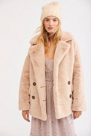 Solid Kate Faux Fur Coat