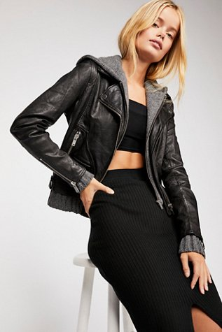 Sweater Clash Moto Jacket