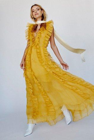 Ambra Layered Ruffle Maxi Dress