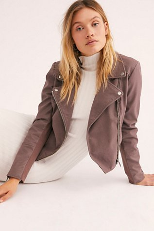 Delilah Cropped Moto Jacket