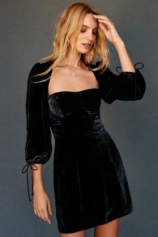 Nadine Velvet Bustier Mini Dress