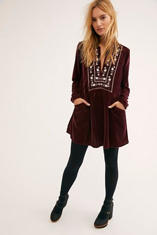 Always Forever Velvet Mini Dress