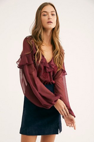 Elastic Heart Blouse