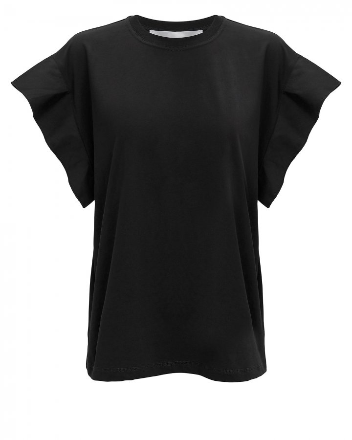 Flute Sleeve Black T-Shirt