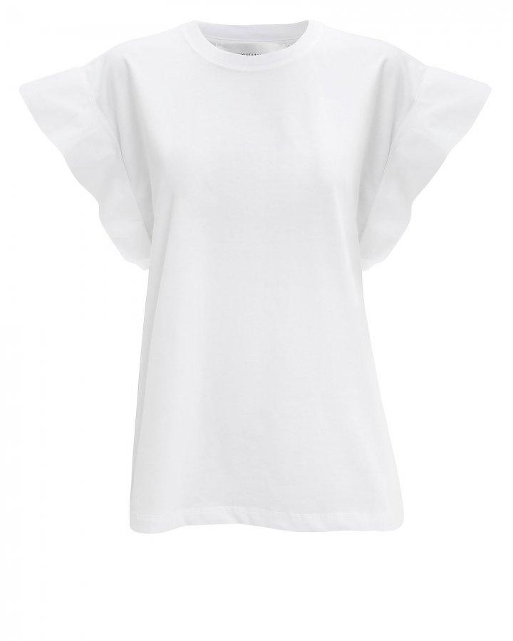 Flute Sleeve White T-Shirt